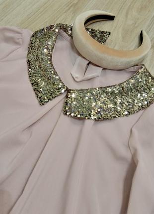 Блуза с бульенками