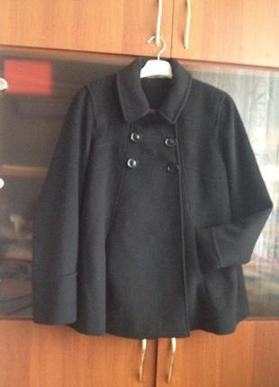 Дизайнерское пальто из шерсти и кашемира