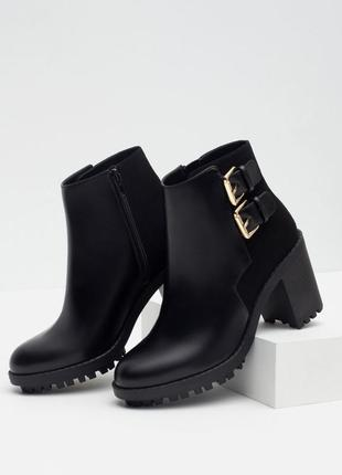 Zara ботинки грубые тракторная подошва массивные