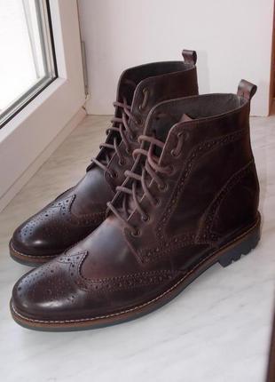 """Р.45 """"asos"""" натуральная кожа высокие ботинки в идеале стелька 30 см"""