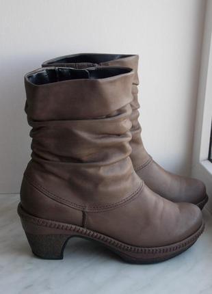 """Р.38.5 """"gabor comfort"""" натуральная кожа сапоги/ботинки  на войлоке 25.5 cм"""