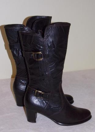 """Р.4 """"gabor comfort"""" натуральная кожа утепленные комфортные сапоги на стопу 24 см"""