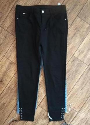 Базовые чёрные джинсы с шнуровкой от paper and stitch