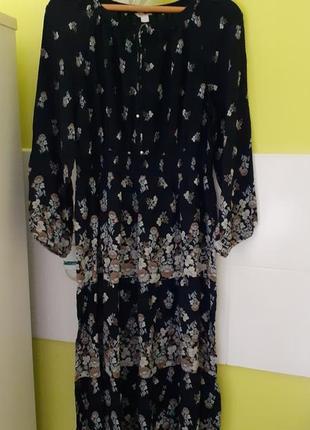 Длинное платье цветочный принт monsoon