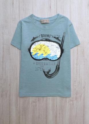 Детская футболка с перевертными паетками