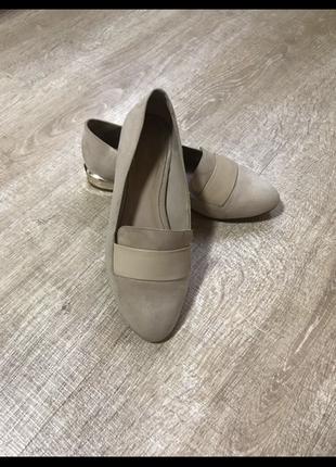 Туфли мокасины мюли лоферы из эко замша
