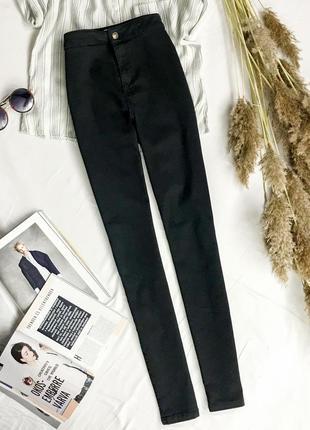 Базовые черные джинсы с высокой посадкой  pn1946026  denim co