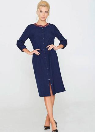 Синя сукня міді на застібці nenka. ціна нижче оптової