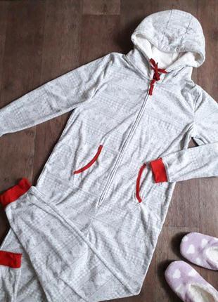 Теплый флисовый комбинезон человечек кигуруми слип пижама esmara германия