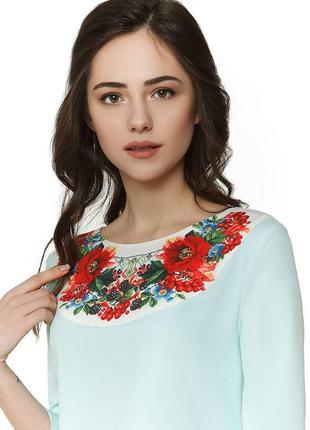 Нежное голубое платье с цветочным принтом nenka. распродажа