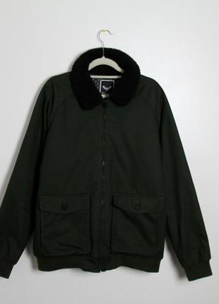 Куртка с воротником шерпа