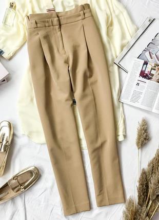 Стильные брюки с высокой посадкой цвета нюд  pn1946025  new look