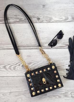 Linea wally's venezia , роскошная кожанная лаковая сумка, italy