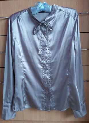 Атласная рубашка,блузка
