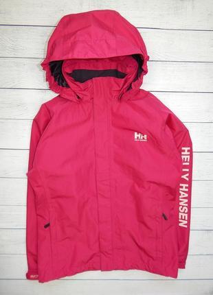 Мембранная куртка-ветровка helly hansen, для девочки 11-12 лет.152 рост.