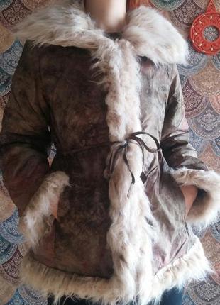 Теплая курточка с иск.мехом