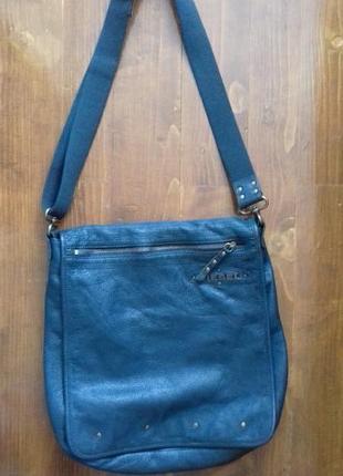 Фирменная сумка натуральная кожа diesel
