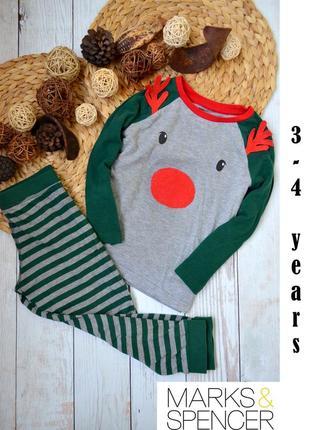 Пижама marks&spencer 3-4 года новогодняя