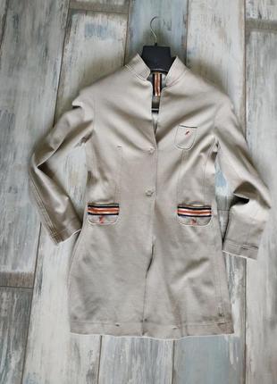 Удлиненный итальянский пиджак-кардиган