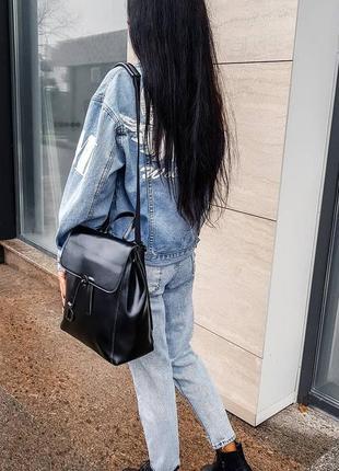 Женская кожаная сумка рюкзак , натуральная кожа кожаная красотка