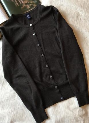 Базовая шерстяная кофта кардиган