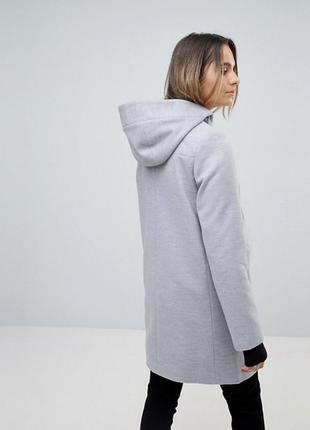 Женское пальто asos осень весна с капюшоном