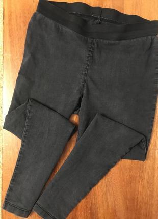 Темно-серые джинсы скинем джеггинсы большого размера батал