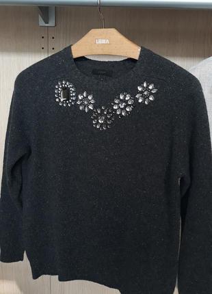 Красивенный и эксклюзивный шерстяной свитер j crew 80% шерсть
