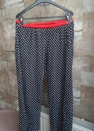 Пижамные штаны в горошек. размер l-xl