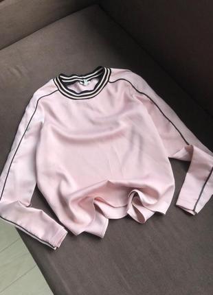 Атласная кофта блуза