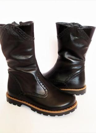 Оригинал - кожаные зимние сапоги тм braska 30 размер