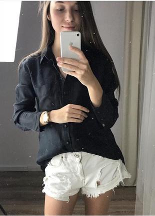 Рубашка со вставками шолка marks&spencer