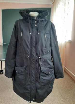 Средне утепленная куртка парка 52р
