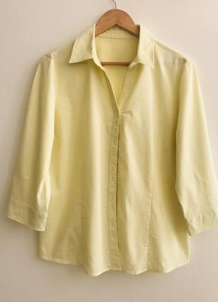 Лимонная рубашка xl #201 1+1=3🎁