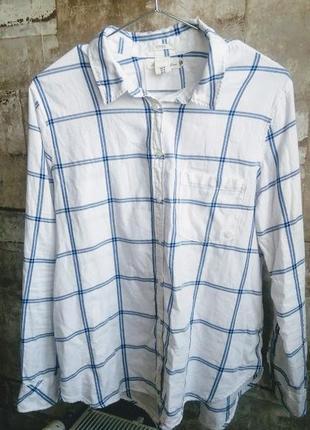 H&m рубашка в клетку. размер 2xl. есть нюанс
