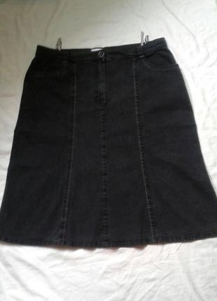 Стрейчевая джинсовая юбка большого размера
