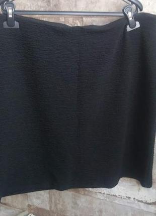 C&a черная юбка стрейч прямого кроя. размер 2-3xl