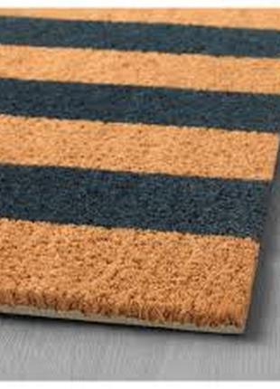 Прорезиненный придверный коврик из кокосового волокна ikea kvoring