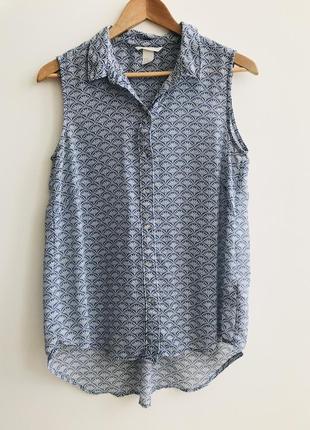 Блуза h&m размер 40/l без рукавов #48 1+1=3🎁