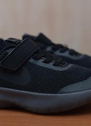 Черные детские кроссовки nike flex experience rn7, найк, 27.5 размер. оригинал