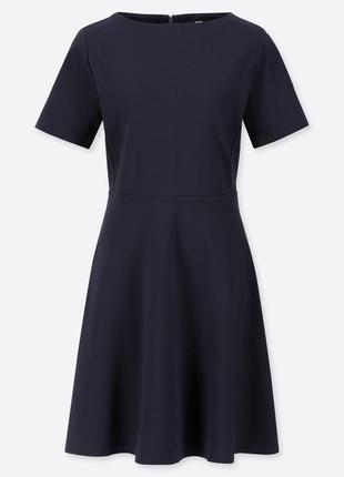 Платье темное индиго ponte от uniqlo m, l