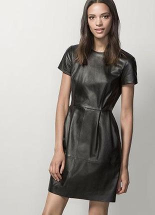 Кожаное платье massimo dutti