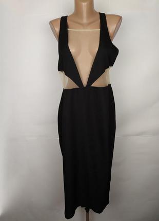 Платье шикарное с сеточкой по бюсту boohoo uk 16/44/xl