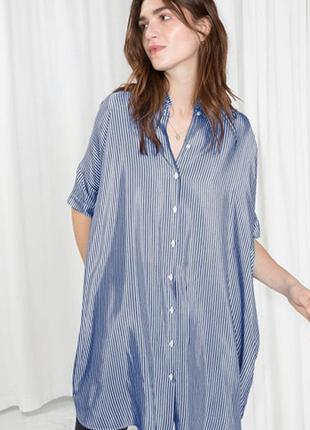 Оригинальное платье-рубашка от бренда & other stories разм. l