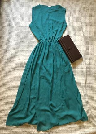 Длинное шифоновое платье devant