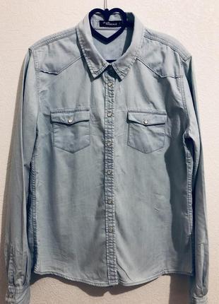 Джинсовая рубашка jean pascale