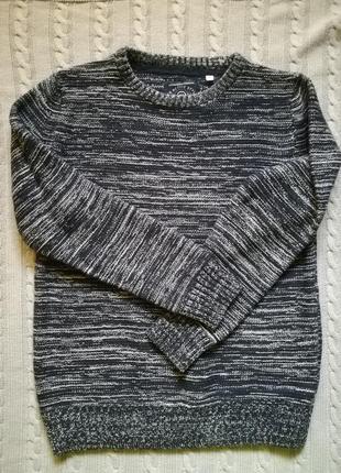 Модный крутой свитер реглан тёплый, вязаный на подростка here&there c&a
