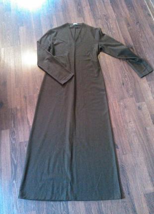 Шикарное теплое шерстяное платье s /м