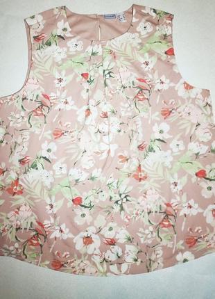 Нежная блузка топ с цветами