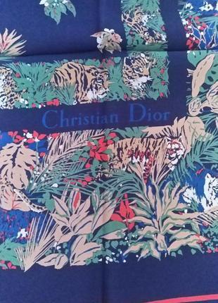Шелковый платок christian dior.